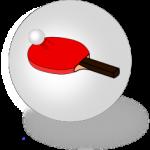 Balle et raquette de tennis de table